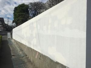 塀の模様付け補修