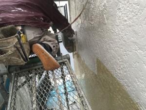 外壁シリコン2回塗り見える化