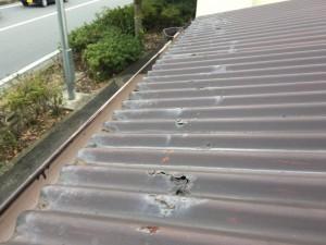 波トタン屋根塗装現状