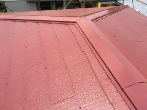コロニアル屋根のていねいな塗装1回多く2