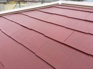コロニアル屋根のていねいな塗装1回多く1