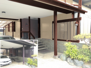 玄関まわりの塗装シミュレーション