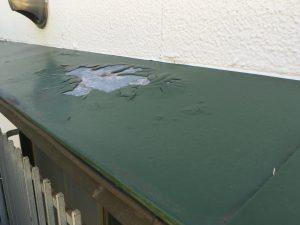 亜鉛鉄板トタンの塗装1