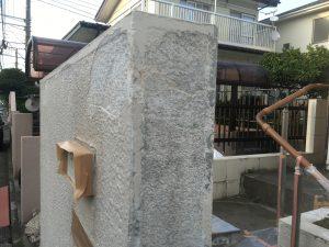 ブロック塀の塗り替えの下地処理2