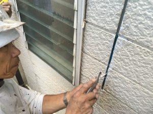 サイディング外壁のコーキング山本塗装