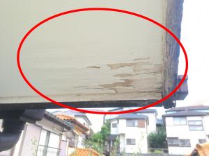 ベニヤの軒天井の腐食