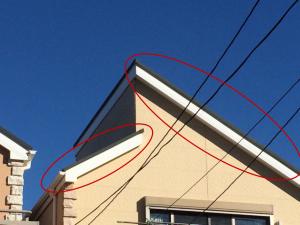 破風板の塗装1
