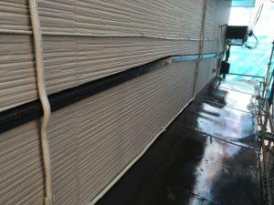 塗装工事の配線の取付と塗装1