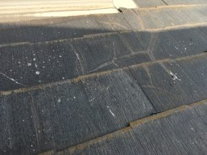 コロニアル屋根割れ塗装