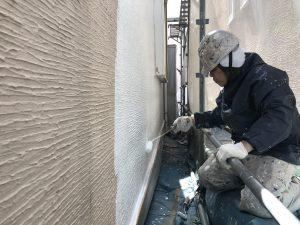 横須賀市山本塗装 微弾性フィラー